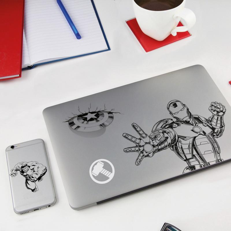 autocollants marvel stickers ordinateur portable super h ros avengers sur rapid cadeau. Black Bedroom Furniture Sets. Home Design Ideas