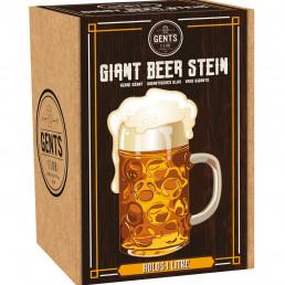 Chope Bière Géante en Verre
