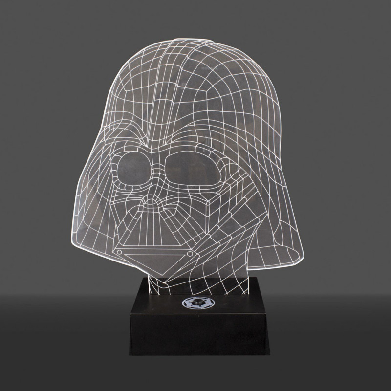 une lampe star wars dark vador holographique acrylique une id e de cadeau brillante sur rapid. Black Bedroom Furniture Sets. Home Design Ideas