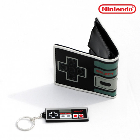 Set Manette Nes Nintendo Portefeuille et Porte-Clés