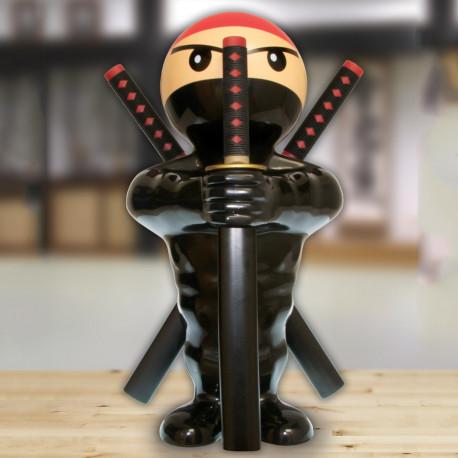 Bloc-couteaux samouraï avec des couteaux katanas