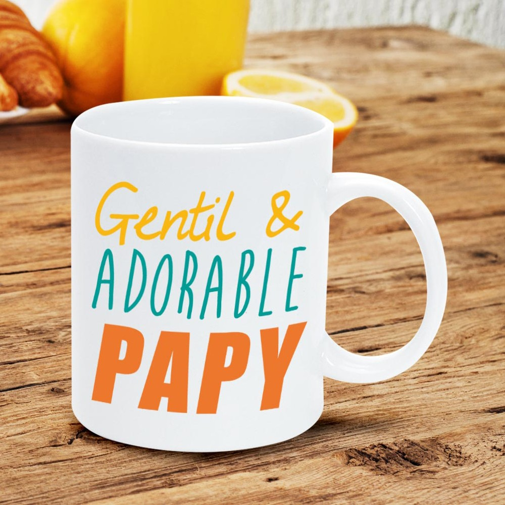 mug humoristique gentil et adorable papy sur rapid cadeau. Black Bedroom Furniture Sets. Home Design Ideas