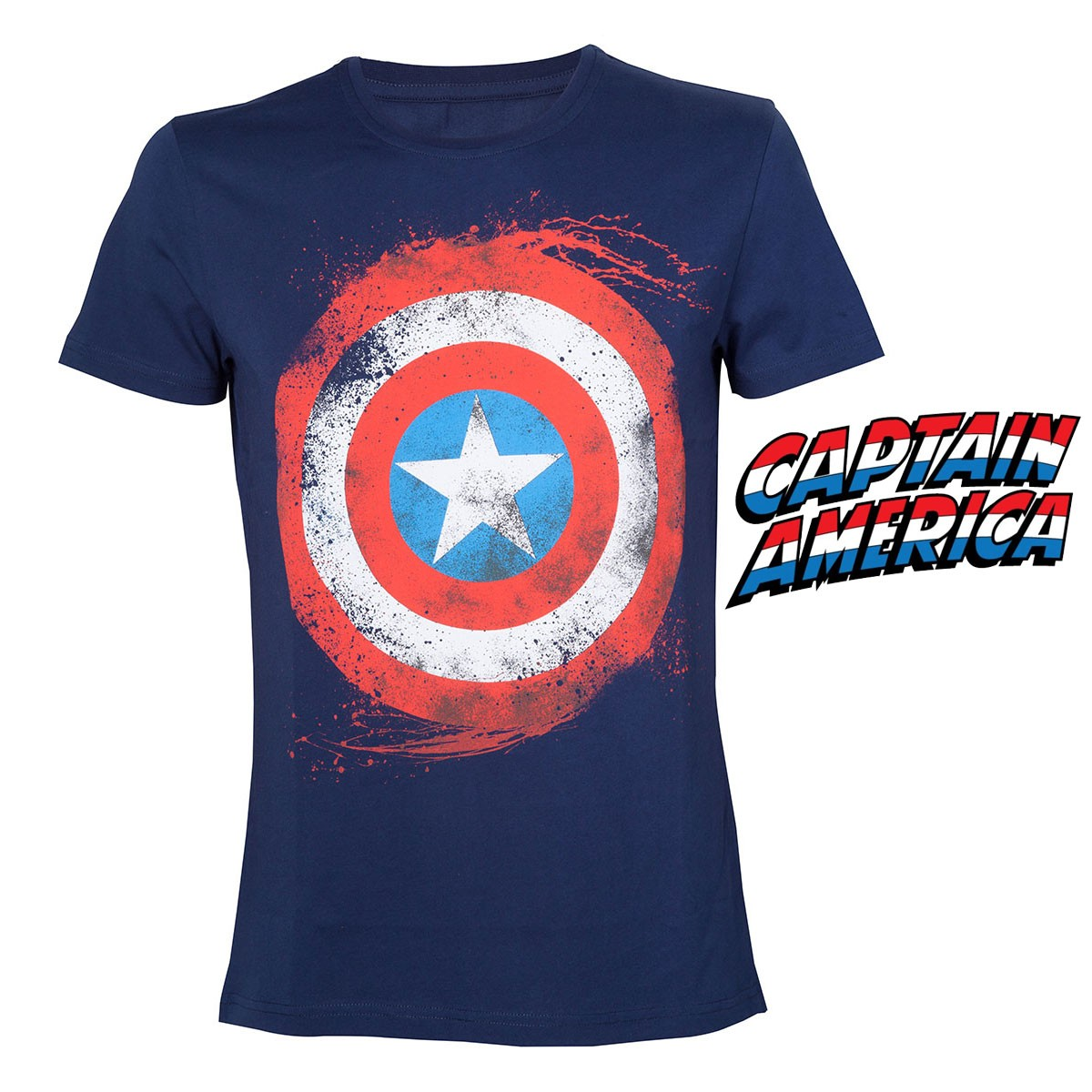 tee shirt captain america sous licence officielle marvel sur rapid cadeau. Black Bedroom Furniture Sets. Home Design Ideas
