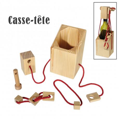 Casse-Tête Bouteille en Bois - Le Cachot