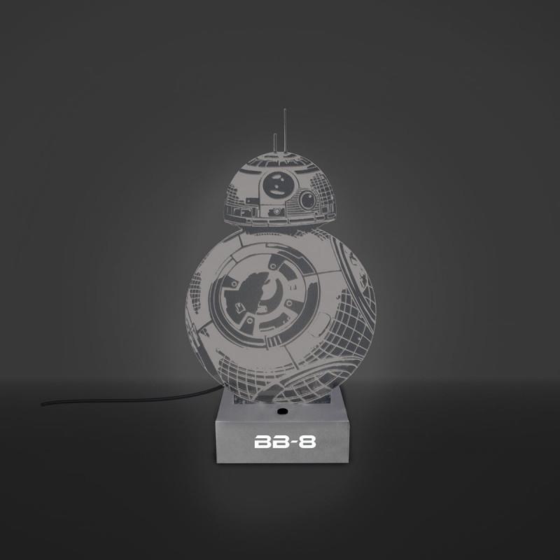 lampe star wars en acrylique en forme de bb 8 sur rapid cadeau. Black Bedroom Furniture Sets. Home Design Ideas
