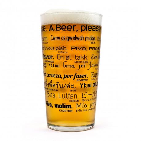 Verre à Bière Multilingue