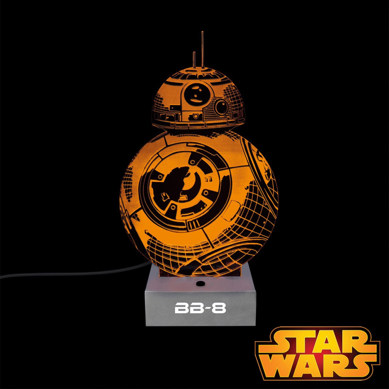 lampe star wars en acrylique en forme de bb 8 sur rapid cadeau. Black Bedroom Furniture Sets. Home Design Ideas
