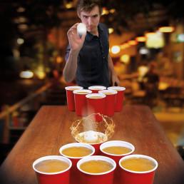 Jeu de Beer Pong Géant