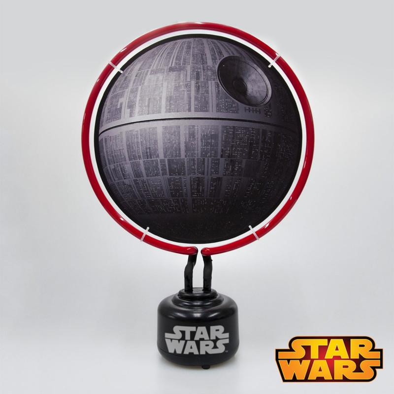 Lampe Etoile De La Mort Star Wars Avec Neon Rouge Sur Rapid Cadeau
