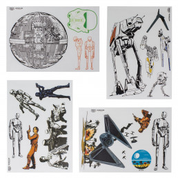 Stickers Star Wars - Lot de 17