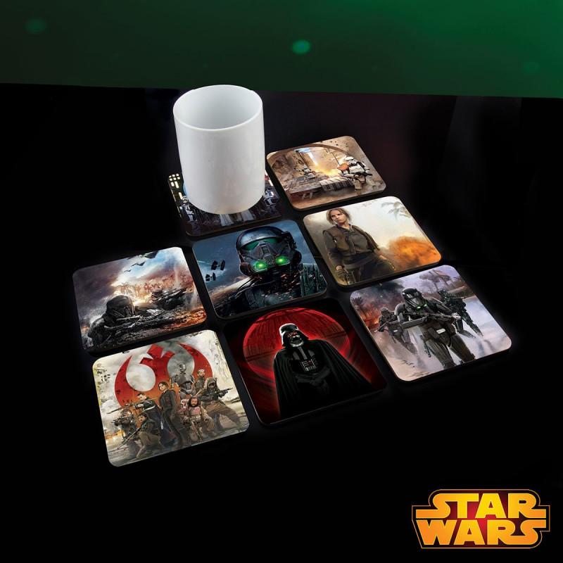 Dessous De Verre Originaux Star Wars Rogue One Sur Rapid Cadeau