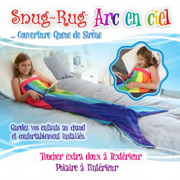 Snug Rug Queue de Sirène Multicolore