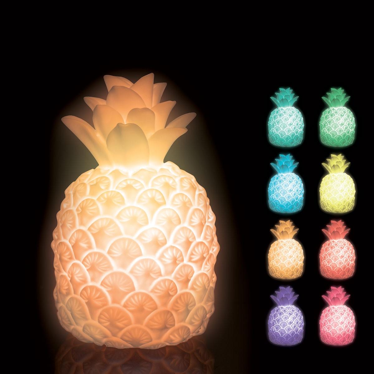 lampe ananas multicolore qui change de couleur sur rapid cadeau. Black Bedroom Furniture Sets. Home Design Ideas