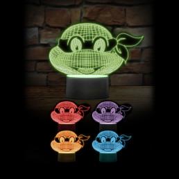 Lampe Tortues Ninja Multicolore Effet 3D