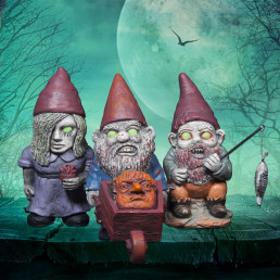 Mini Nains de Jardin Zombies - Lot de 3