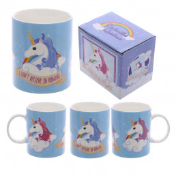 Mug Licorne Bleu - I Don't Believe in Humans