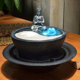 Fontaine Yin Yang avec Bouddha