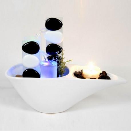 Fontaine Décorative Cristal Galets