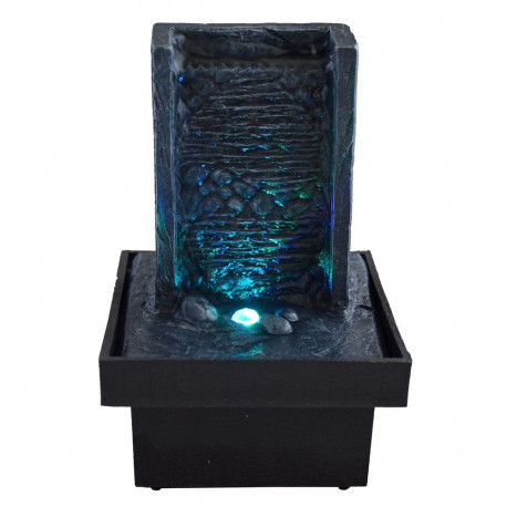 petite fontaine zen d int rieur avec clairage multicolore par led sur rapid cadeau. Black Bedroom Furniture Sets. Home Design Ideas