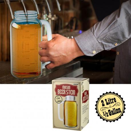 Maxi Chope Bière 2 Litres en Verre