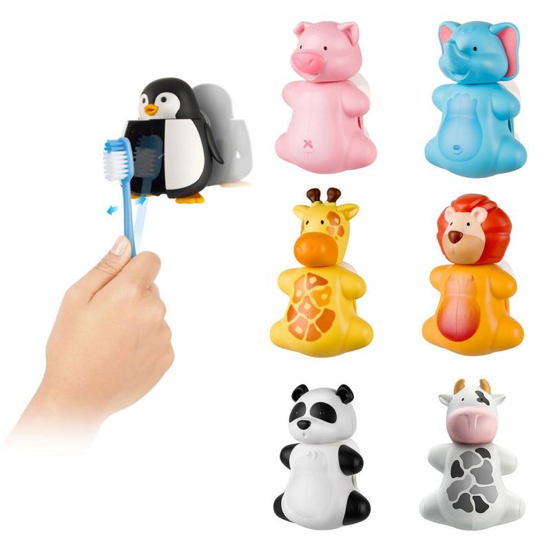 Porte brosse dents ventouse en forme d 39 animaux sur rapid cadeau - Porte brosse a dent ventouse ...