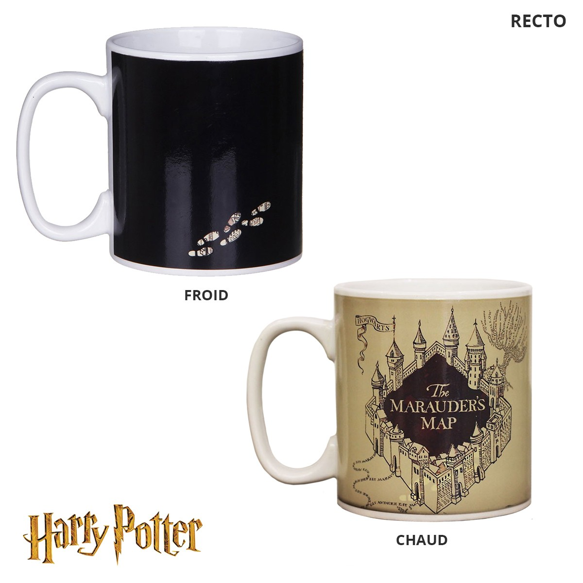 tasse magique harry potter avec carte du maraudeur sur rapid cadeau. Black Bedroom Furniture Sets. Home Design Ideas