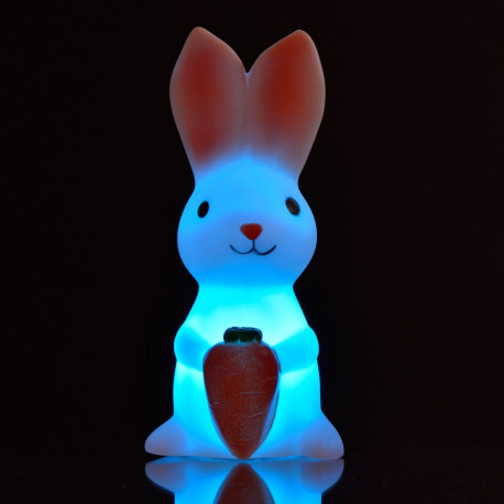 Veilleuse lapin multicolore avec lumi re led pour chambre - Idee cadeau bapteme fille originale ...