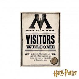 Petite Plaque Métallique Harry Potter - Ministry of Magic