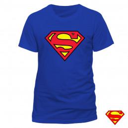 T-shirt Superman Bleu Logo