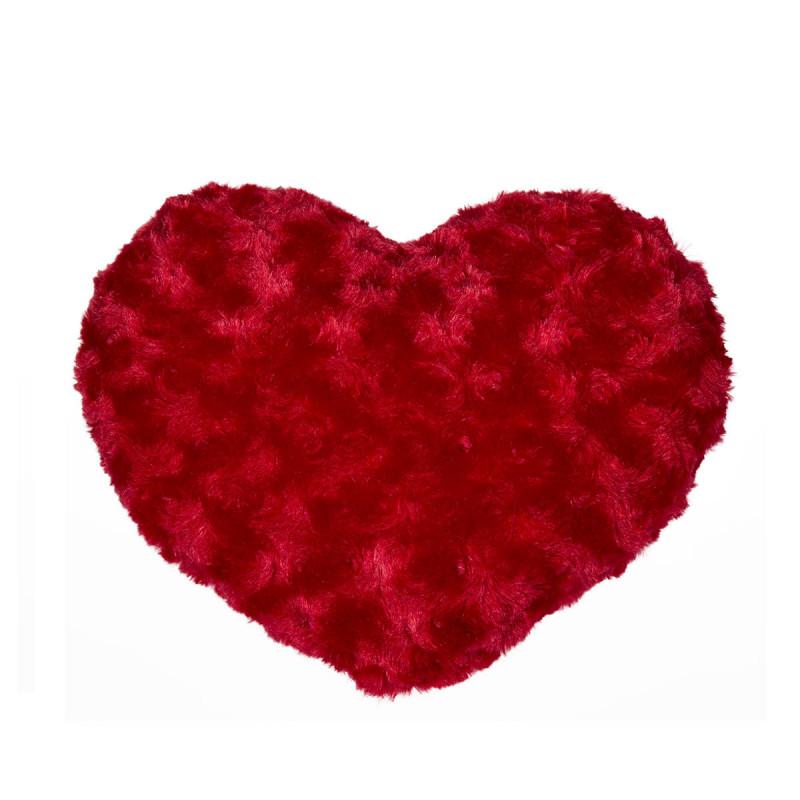 coussin coeur rouge pour faire un cadeau original saint
