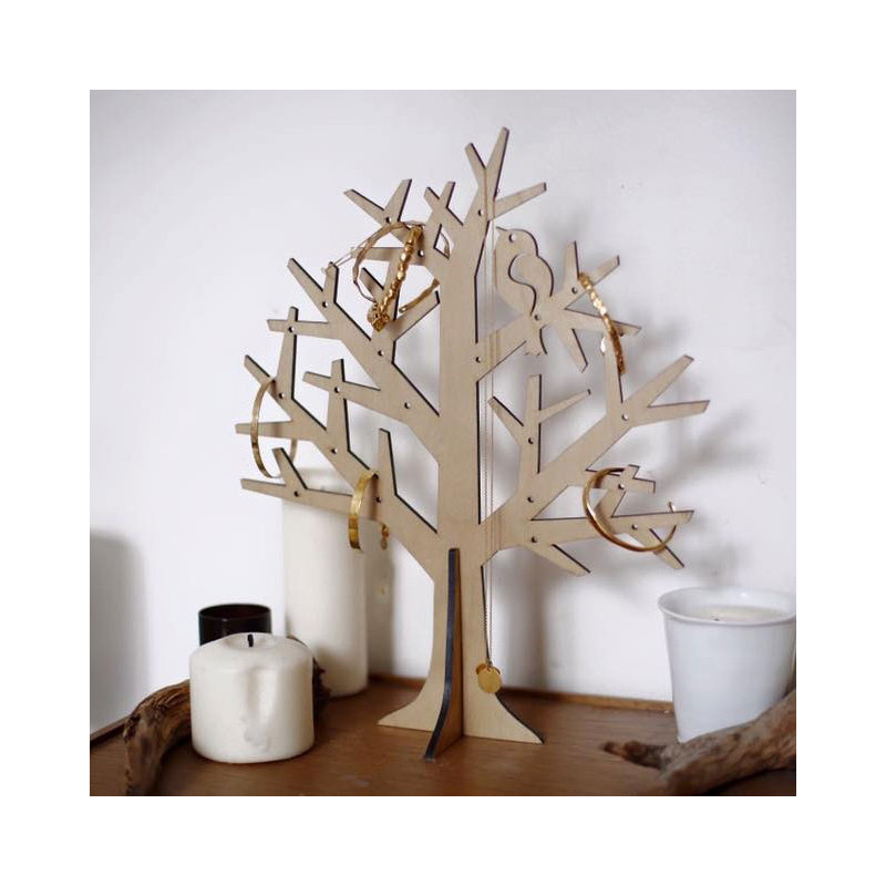 arbre bijoux pour colliers et bracelets en forme d 39 arbre sur rapid cadeau. Black Bedroom Furniture Sets. Home Design Ideas