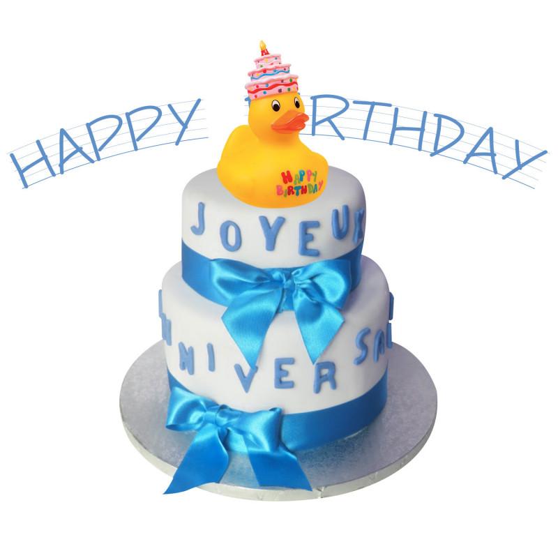 Favori Canard en plastique jaune pour le bain pour anniversaire sur Rapid  LS76