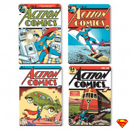 Sous-Verres Superman Action Comics - Lot de 4