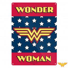 Petite Plaque Métallique Wonder Woman Logo