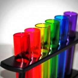 Shooters Tubes à Essai Multicolores