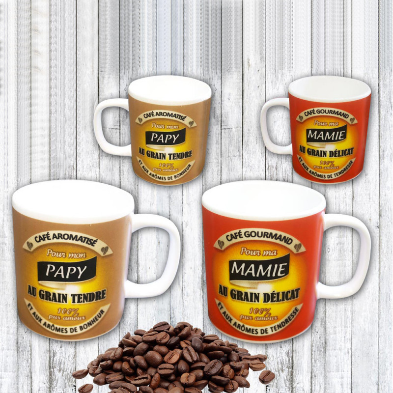 Expresso Tasses Papy Tasses Mamieamp; À Mamieamp; Papy Expresso À OZulwkiTPX