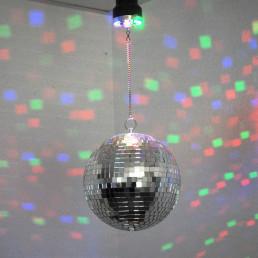 Boule à Facettes avec Eclairage Leds Multicolores