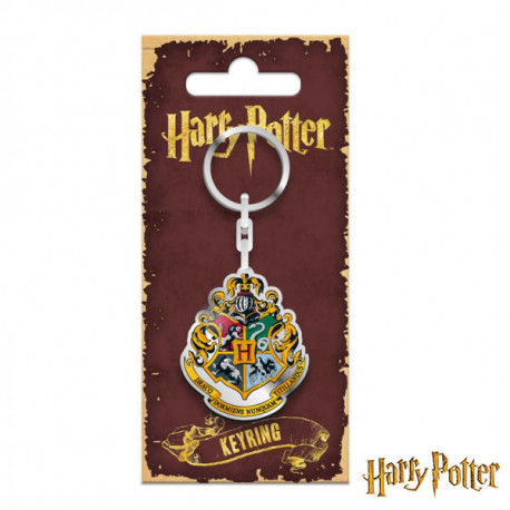 Porte cl s geek harry potter l effigie du blason de l cole poudlard sur rapid cadeau - Harry potter blason ...
