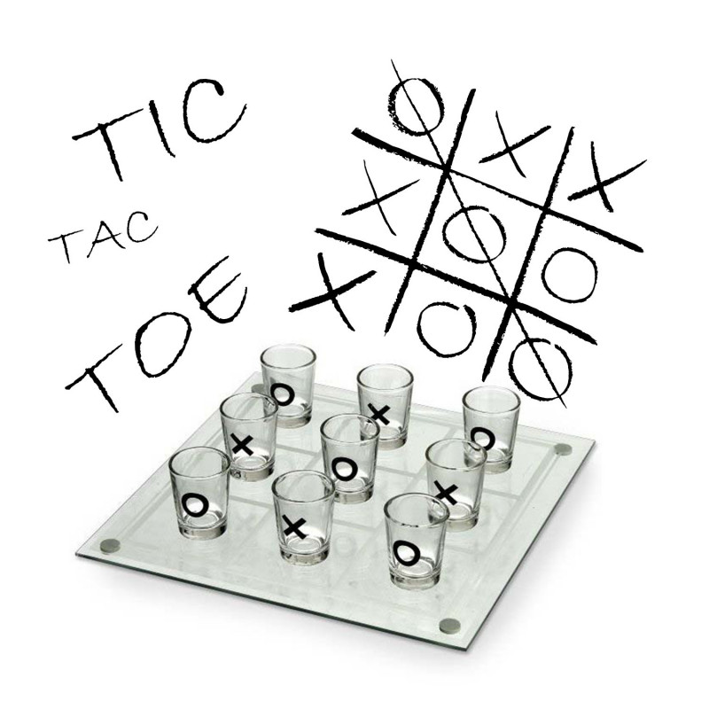 jeu boire tic tac toe achat cadeau festif et humoristique. Black Bedroom Furniture Sets. Home Design Ideas