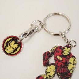 Porte-Clés Iron Man Marvel avec Jeton de Course