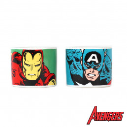 Coquetiers Marvel Iron Man & Captain America