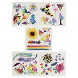 Tatouages Aquarelle Multicolores (30 Tatouages)