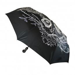 parapluie noir avec motif t te de mort phosphorescente sur rapid cadeau. Black Bedroom Furniture Sets. Home Design Ideas