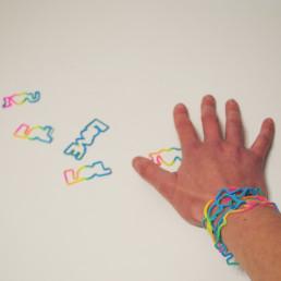 Bracelets Élastiques Silicone Words
