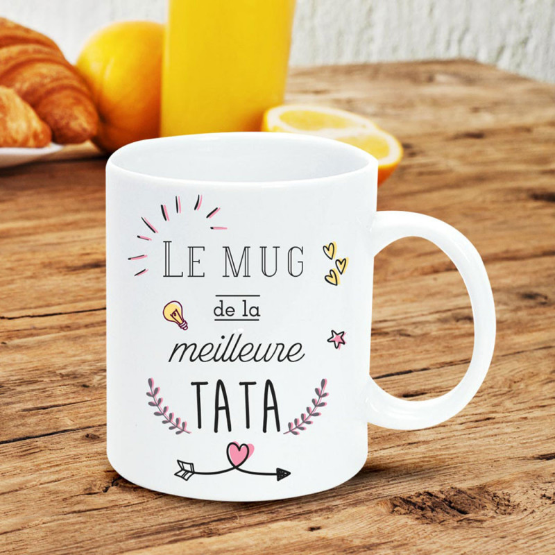 Mug Tata Cadeau Original Pour La Meilleure Tata Sur Rapid Cadeau