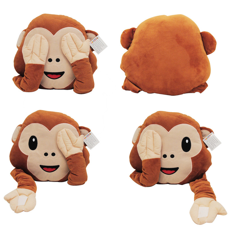 Coussin rigolo en forme d motic ne singe avec de longs bras - Petit singe rigolo ...