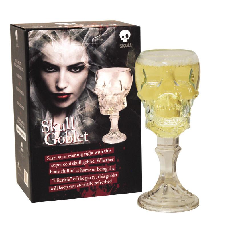 grand verre vin en forme de t te de mort en 3d pour ap ritifs gothiques sur rapid cadeau. Black Bedroom Furniture Sets. Home Design Ideas