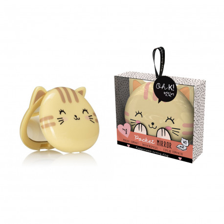 MIROIR DE POCHE CHAT KAWAII