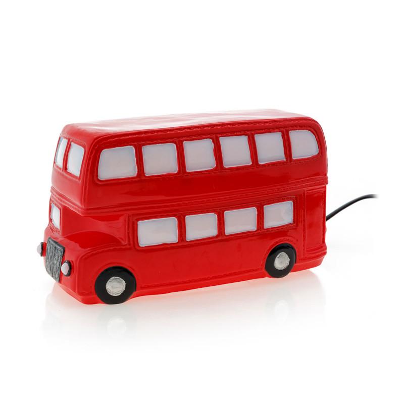 lampe veilleuse en forme de bus pour d co anglaise sur rapid cadeau. Black Bedroom Furniture Sets. Home Design Ideas