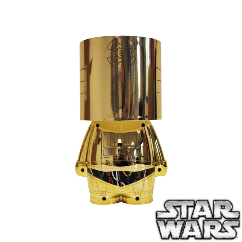 lampe c 3po originale sous licence officielle star wars sur rapid cadeau. Black Bedroom Furniture Sets. Home Design Ideas
